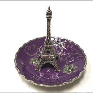 Eiffel tower floral ring dish